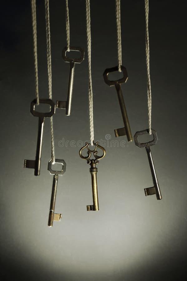 Wiszący klucze zdjęcie stock