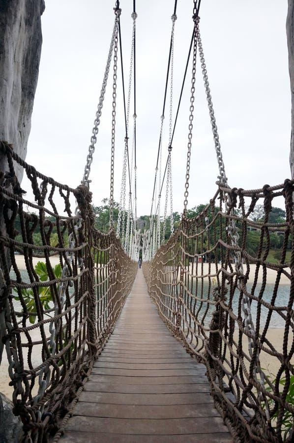 Wiszący most w Sentosa obraz stock