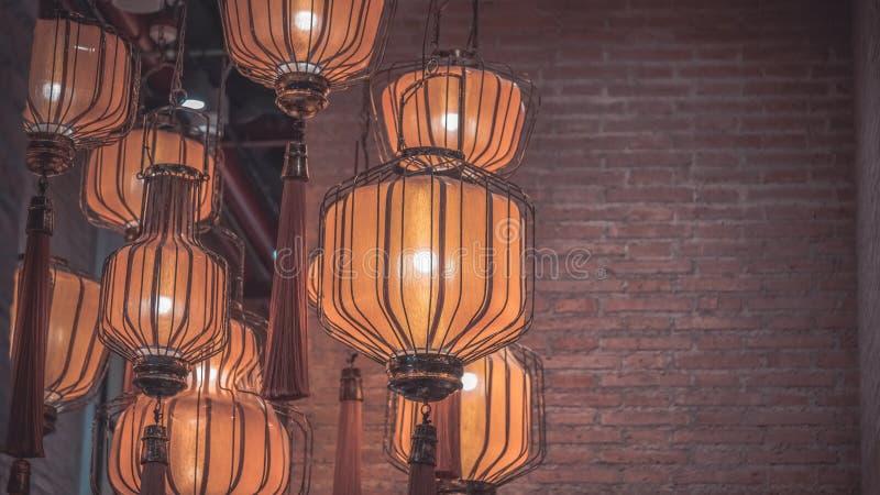 Wiszący Podsufitowy świecznik lampy światło obraz stock