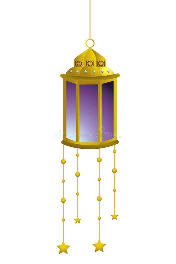 Wisz?ca lampowa ikona royalty ilustracja
