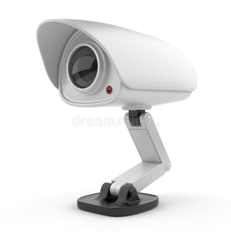 Wit 3D de cameratoezicht van de veiligheid. Veiligheid stock illustratie