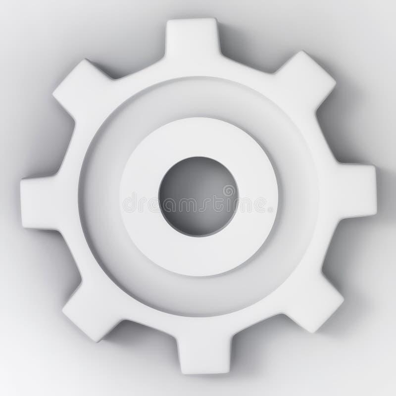 Wit 3d toestelwiel royalty-vrije illustratie
