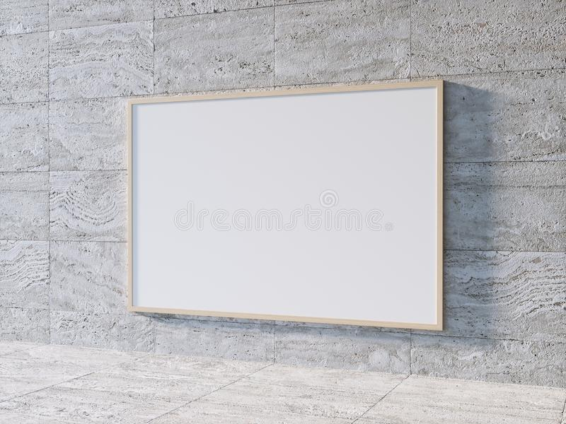 Wit Aanplakbordmalplaatje stock illustratie