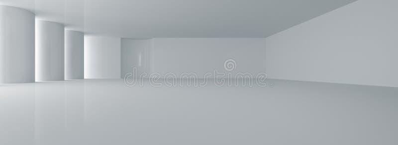 Wit abstract binnenland royalty-vrije illustratie