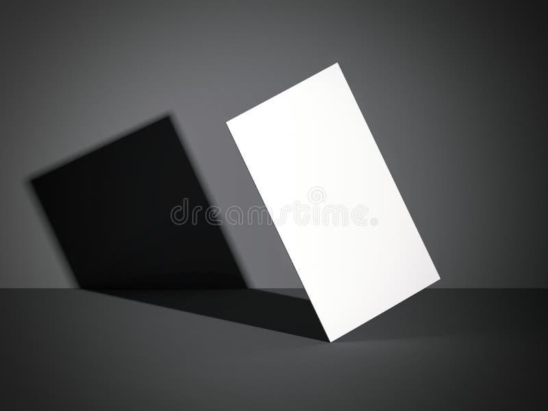 Wit adreskaartje in een moderne studio het 3d teruggeven royalty-vrije illustratie