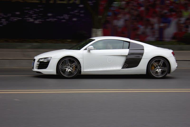 Wit Audi royalty-vrije stock fotografie