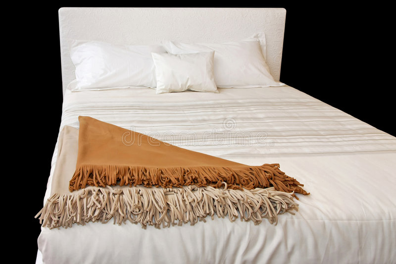Wit bed stock foto's