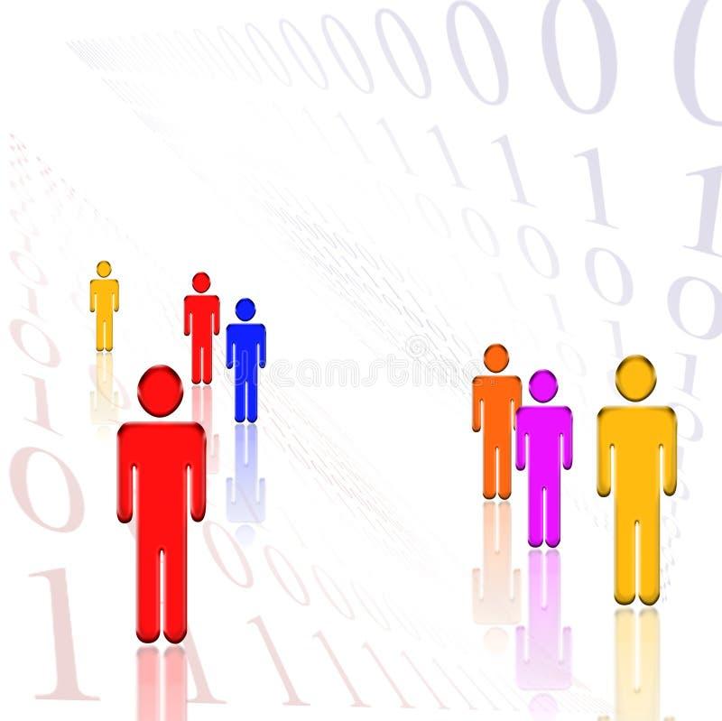 Wit Binair getal royalty-vrije illustratie