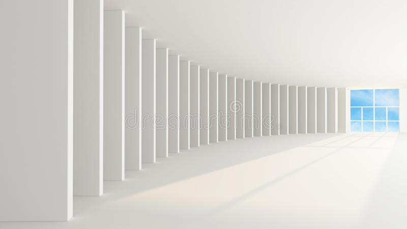 Wit binnenland vector illustratie
