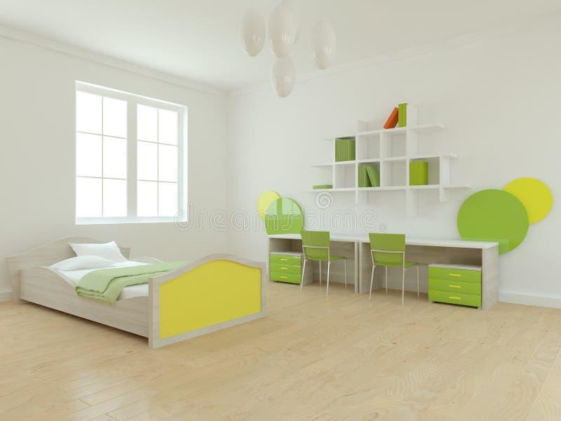 Wit binnenlands concept voor kinderenruimte royalty-vrije illustratie