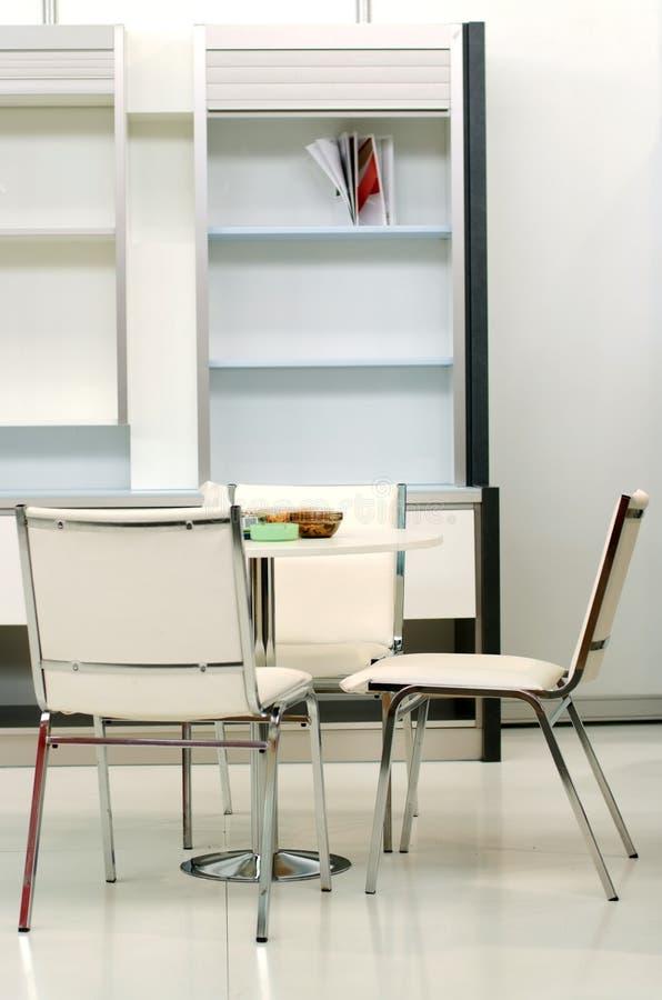 Wit binnenlands ontwerp stock foto