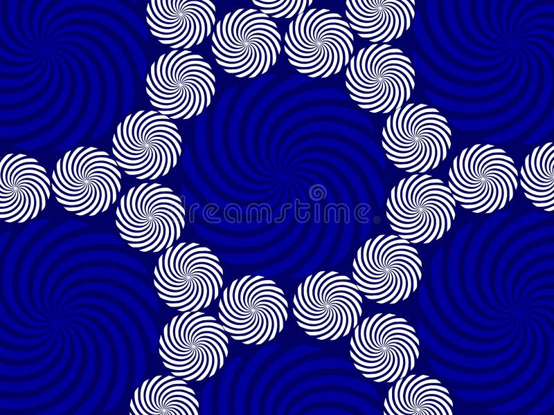 Wit blauw cirkels achtergrond abstract patroondocument behang vector illustratie