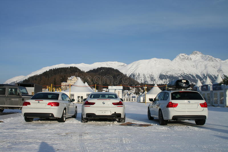 Wit BMW royalty-vrije stock afbeeldingen