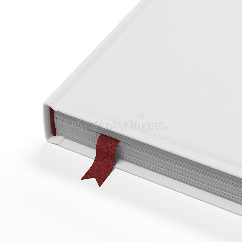 Wit boek met rode referentie stock illustratie