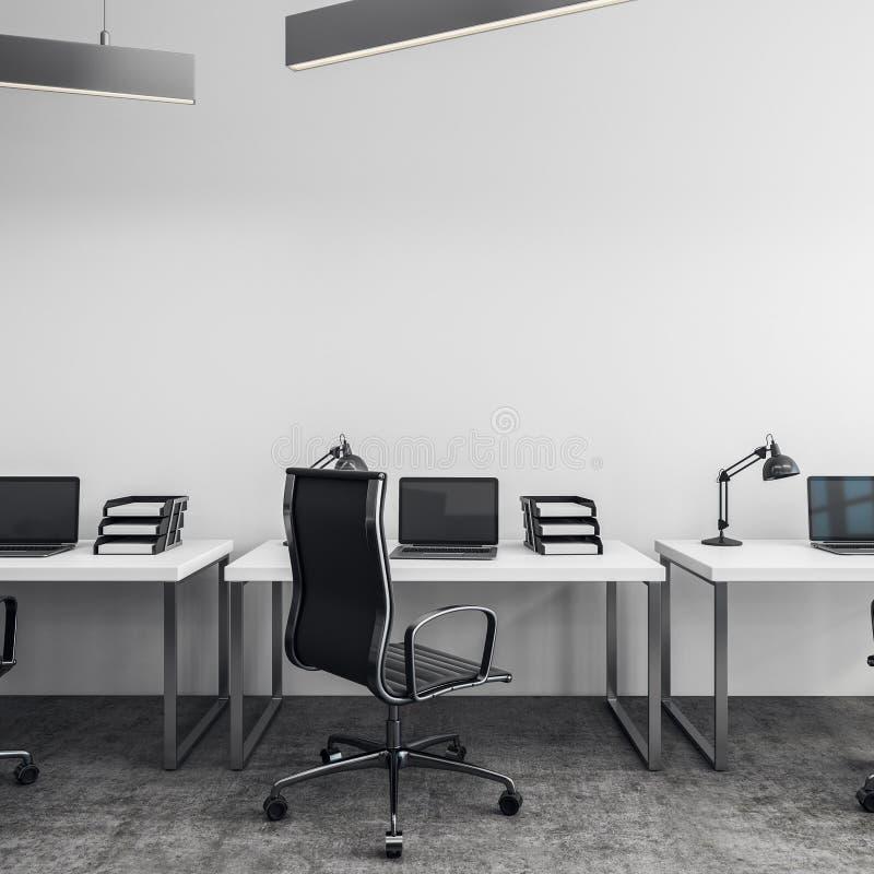 Wit bureau met copyspace royalty-vrije illustratie