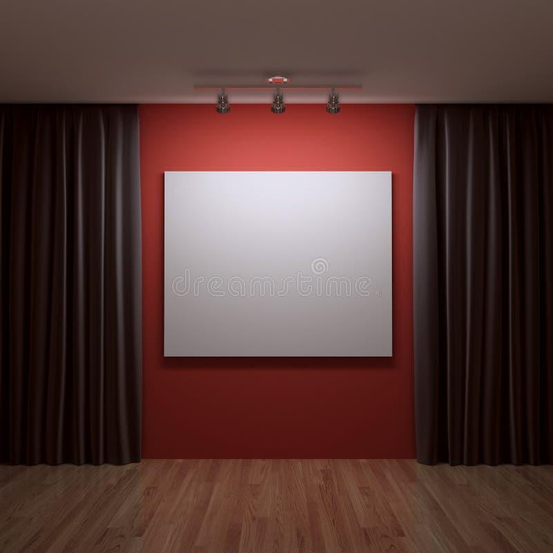 Wit canvas stock illustratie