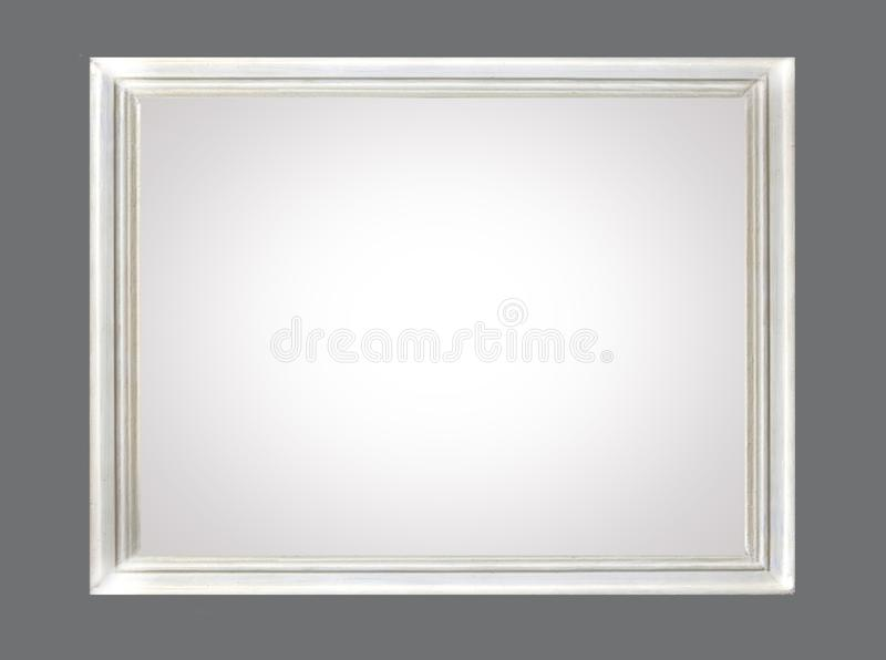 Wit canvas in frame stock afbeelding