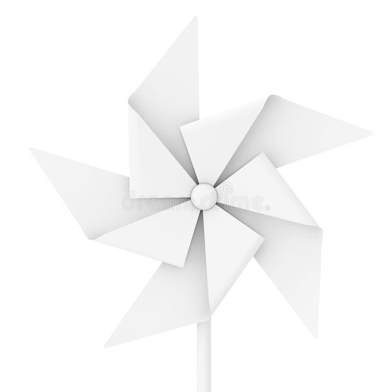 Wit Clay Style Pinwheel Toy het 3d teruggeven vector illustratie