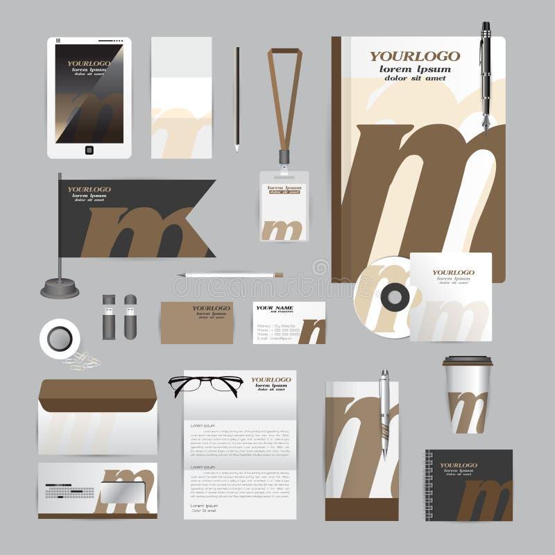 Wit collectief identiteitsmalplaatje met origamielementen stock illustratie