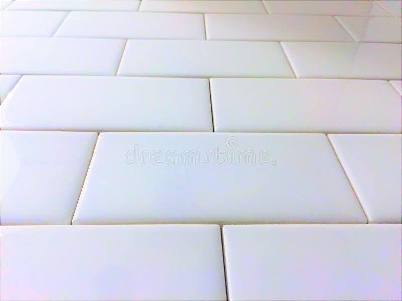 Wit de metropatroon van tegelbacksplash stock afbeelding