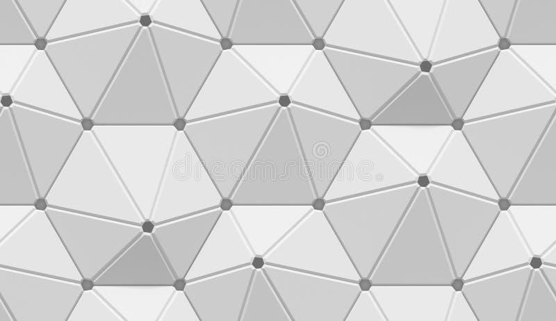 Wit in de schaduw gesteld abstract geometrisch patroon Origamidocument stijl 3D teruggevende achtergrond vector illustratie