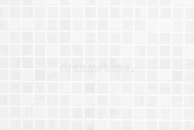Wit de textuurideaal van de keramische tegelmuur voor een achtergrond en gebruikt in binnenlands ontwerp royalty-vrije stock foto