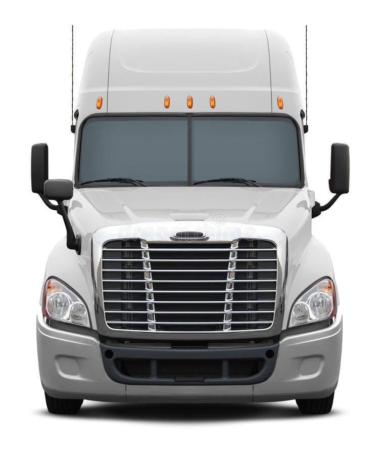 Wit de vrachtwagen vooraanzicht van freightlinercolombia royalty-vrije illustratie