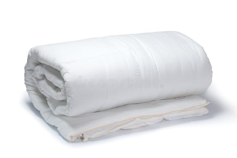 Wit dekbed stock afbeelding