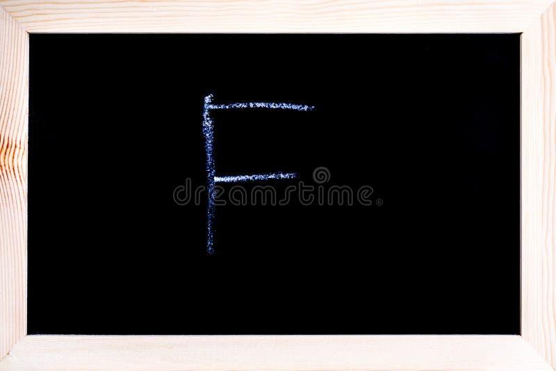 Wit die krijt op een bord wordt geschreven stock afbeeldingen