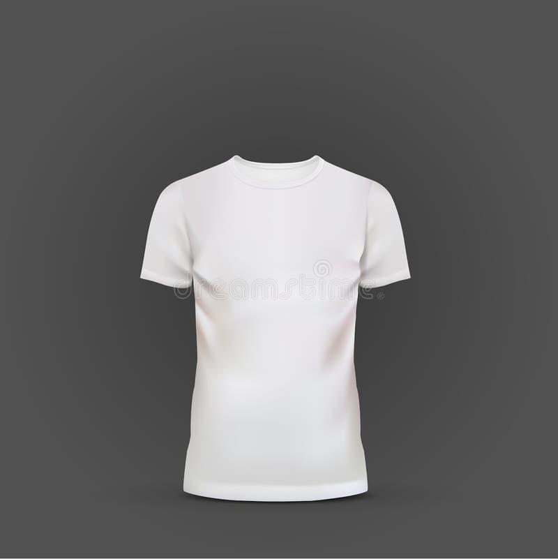 Wit die T-shirtmalplaatje op zwarte wordt geïsoleerd vector illustratie