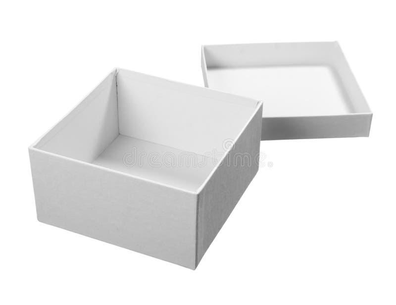 Wit doospakket royalty-vrije stock afbeeldingen