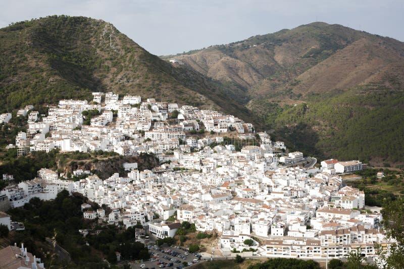 Wit dorp van Ojen, Spanje stock afbeelding
