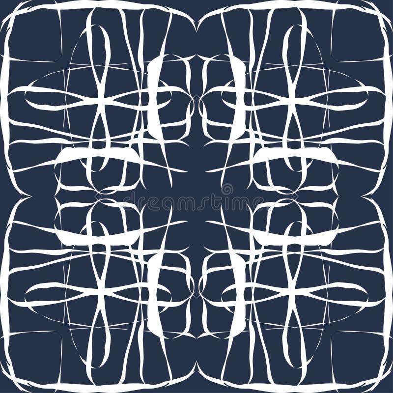 Wit dun lijn uitstekend naadloos patroon royalty-vrije illustratie