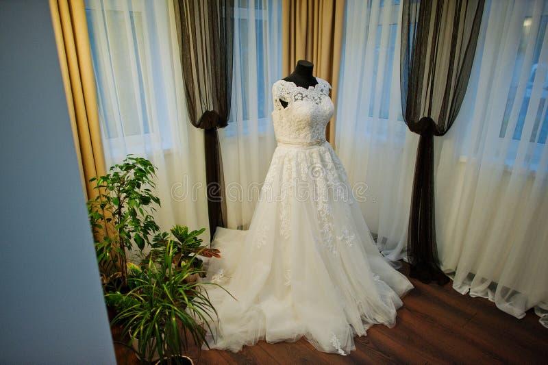 Wit elegant huwelijk royalty-vrije stock foto's