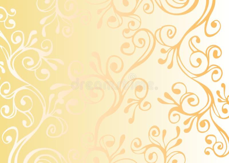 Wit en geel ornament royalty-vrije stock foto