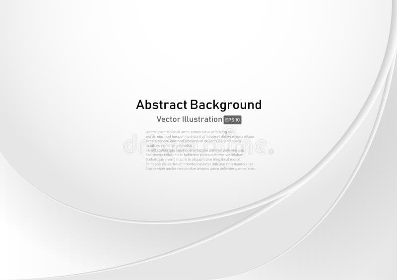 Wit en grijze kromme Abstracte Achtergrond stock foto