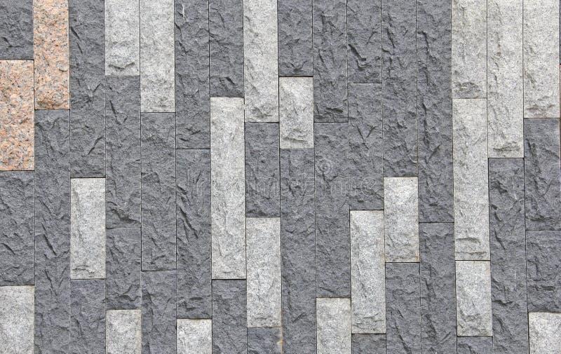 Wit en muur van de Houtskool de grijze steen met tan van vastgestelde achtergrond royalty-vrije stock afbeelding