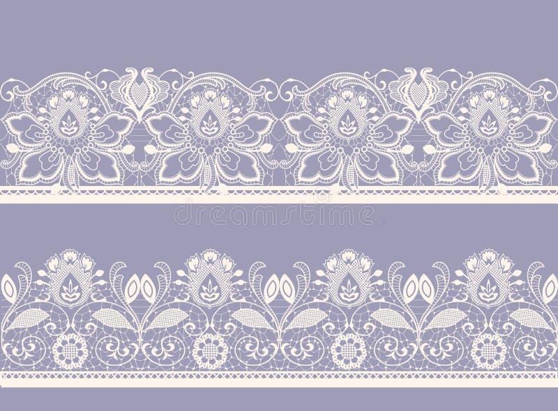 Wit en zwart naadloos kant vector illustratie