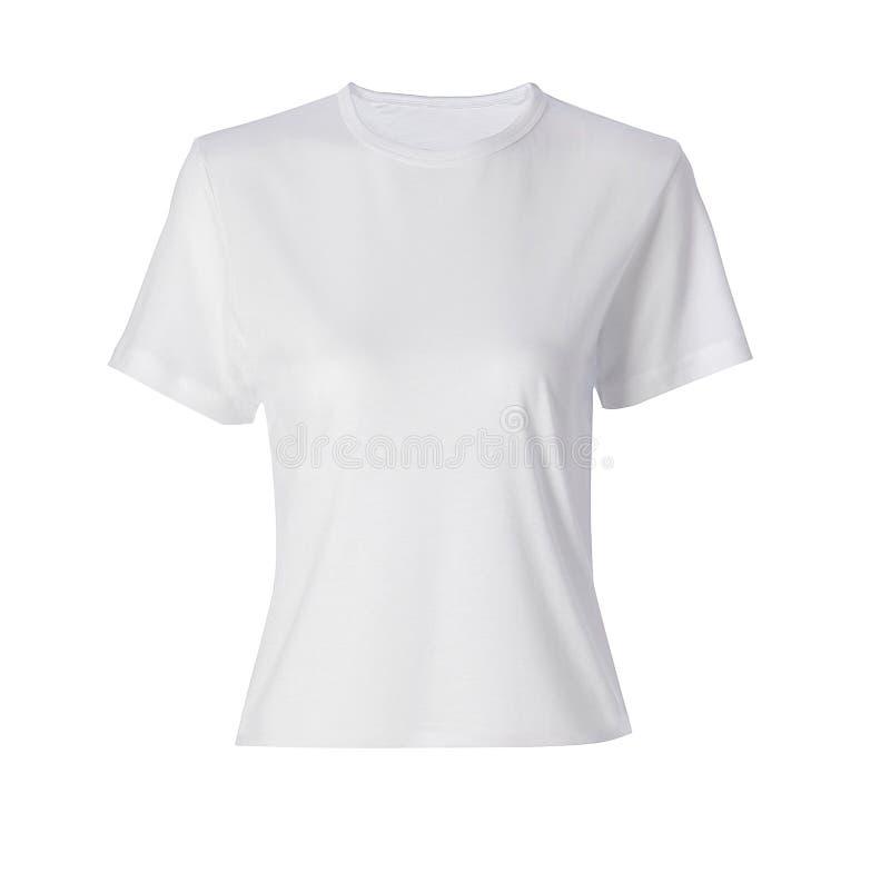 Wit geïsoleerd overhemd royalty-vrije stock afbeelding