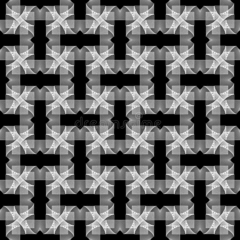 Wit gebreid patroon vector illustratie
