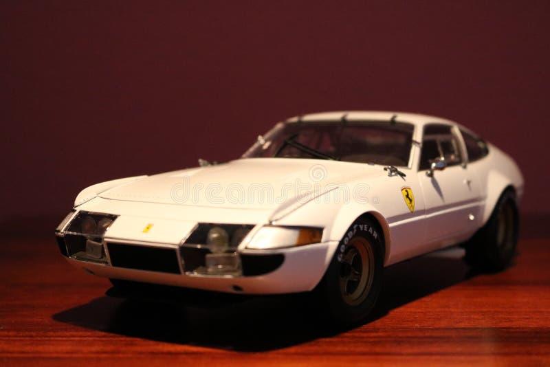 Wit gegoten de automodel van Ferrari Daytona Competizione Matrijs royalty-vrije stock fotografie