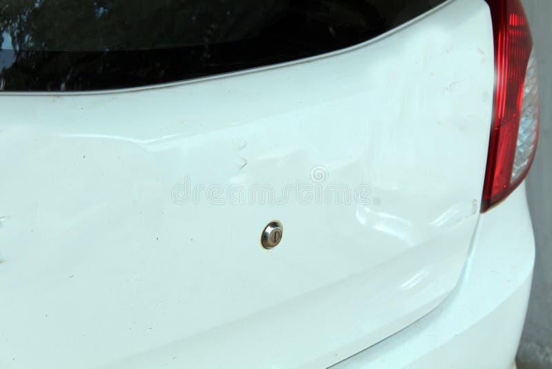 Wit gekleurd auto achterdeel royalty-vrije stock foto