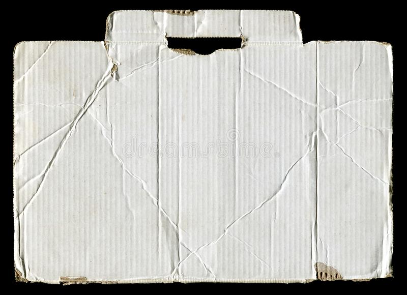Wit gescheurd golfkarton stock afbeeldingen