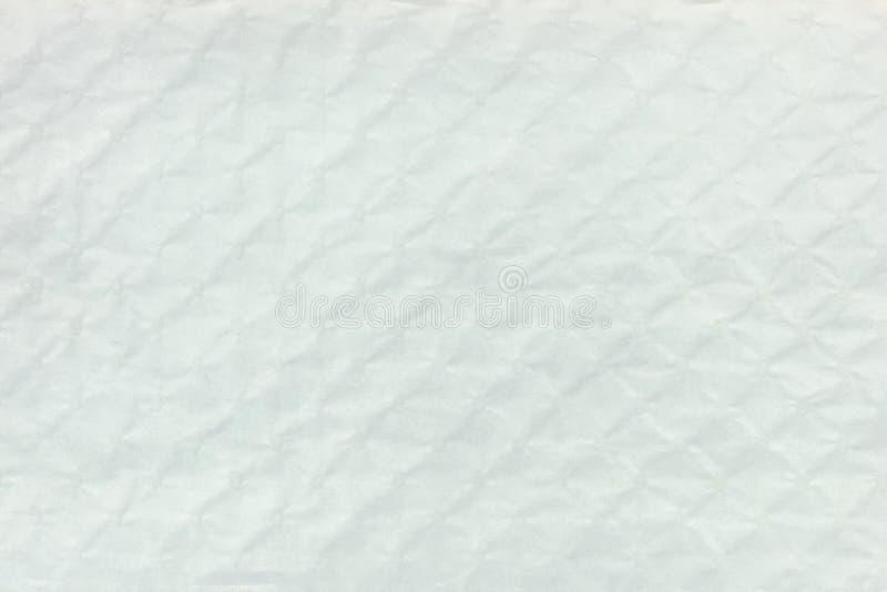 Wit geweven hobbelig karton met ruitpatroon royalty-vrije stock fotografie