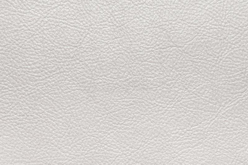 Wit geweven leer Vlakke oppervlakte achtergrond, textuur royalty-vrije stock foto