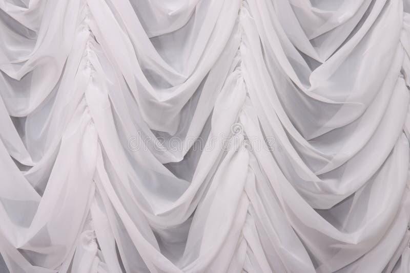 Wit gordijn royalty-vrije stock afbeelding