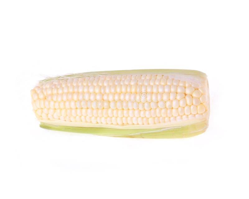 Wit graan dat op wit wordt geïsoleerdn stock foto