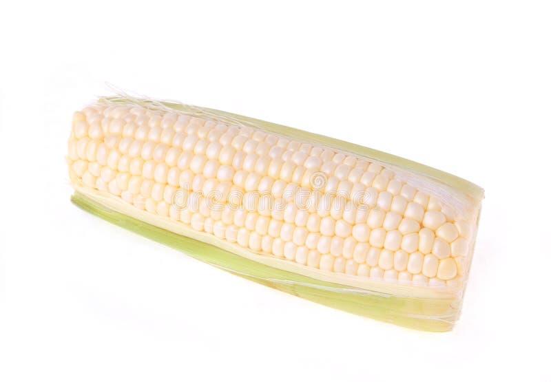 Wit graan dat op wit wordt geïsoleerdo stock foto