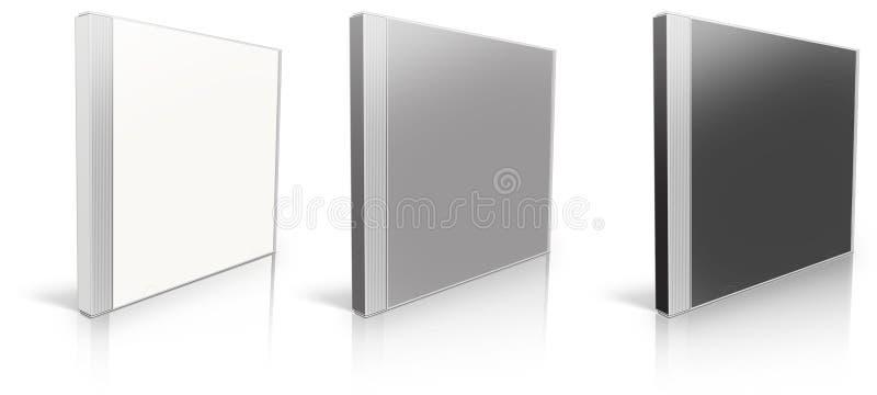Wit, grijs en zwart leeg CDgeval stock illustratie