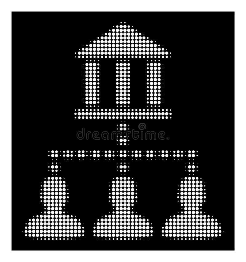 Wit Halftone Bank de Verbindingenpictogram van de de Bouwcliënt vector illustratie
